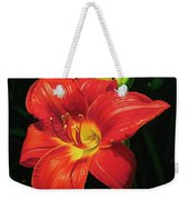 Monikas Red Lily Weekender Tote Bag