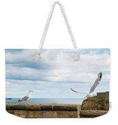 Monitored Seagull Take-off Weekender Tote Bag