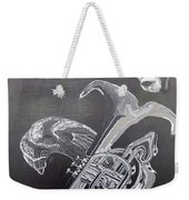 Monkey Playing Tuba Weekender Tote Bag
