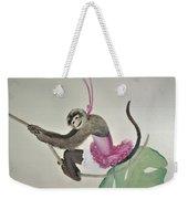 Monkey Swinging In The Trees Weekender Tote Bag