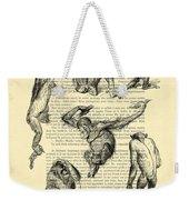 Monkeys Black And White Illustration Weekender Tote Bag