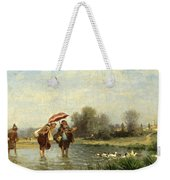 Monks And Ducks Weekender Tote Bag