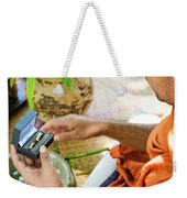 Monks Blessing Buddhist Wedding Ring Ceremony In Cambodia Asia Weekender Tote Bag