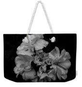 Mono Flower Chrome Weekender Tote Bag