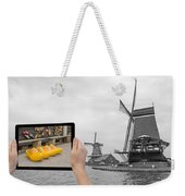 Monochromatic Concept Travel To Netherlands Weekender Tote Bag