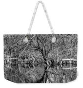 Monochrome Autumn Reflections Weekender Tote Bag