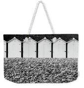 Monochrome Beach Huts Weekender Tote Bag