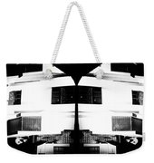 Monochrome Building Symmetry Abstract Weekender Tote Bag