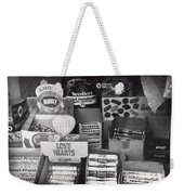 Monochrome Candy Weekender Tote Bag
