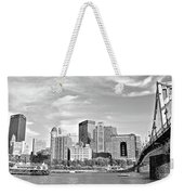 Monochrome Pittsburgh Panorama Weekender Tote Bag