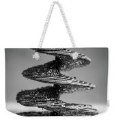 Monochrome Spiral Weekender Tote Bag