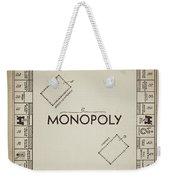 Monopoly Board Patent Vintage Weekender Tote Bag