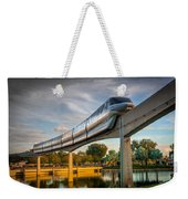 Monorail At Golden Hour Weekender Tote Bag