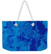 Monotone Blue Weekender Tote Bag