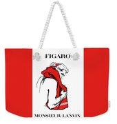Monsieur Weekender Tote Bag