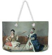 Monsieur Levett And Mademoiselle Helene Glavany In Turkish Costumes Weekender Tote Bag by Jean Etienne Liotard