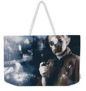 Monster In Cemetery Holding Gun. Grave Robber Weekender Tote Bag by Jorgo Photography - Wall Art Gallery