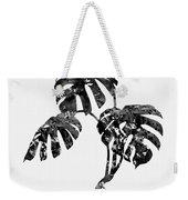 Monstera Leaf-black Weekender Tote Bag