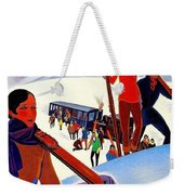 Mont Blanc, Mountain, France, Skiing Weekender Tote Bag