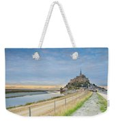 Mont St Michel At Sunset  Weekender Tote Bag