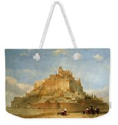 Mont St Michel From The Sands By David Roberts Weekender Tote Bag