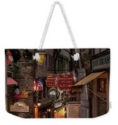 Mont-st-michel, Grand Rue At Night Weekender Tote Bag