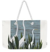 Montage With 3 Great White Egrets Weekender Tote Bag