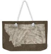 Montana Map Music Notes 3 Weekender Tote Bag