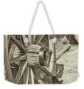 Montana Old Wagon Wheels In Sepia Weekender Tote Bag