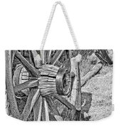 Montana Old Wagon Wheels Monochrome Weekender Tote Bag