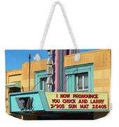 Miles City Montana - Theater Weekender Tote Bag