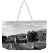 Montauk Guard House B W Weekender Tote Bag