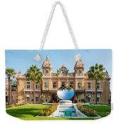 Monte Carlo Casino And Sky Mirror In Monaco Weekender Tote Bag
