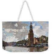 'montelbaanstoren' In Amsterdam By Cornelis Vreedenburgh Dutch 1880-1946 Weekender Tote Bag