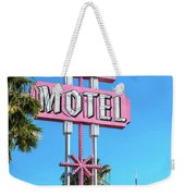Monterey Motel Sign And The Stratosphere Weekender Tote Bag