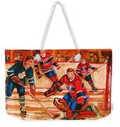 Montreal Forum Hockey Game Weekender Tote Bag