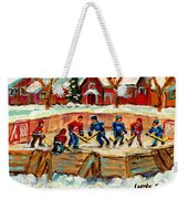 Montreal Hockey Rinks Urban Scene Weekender Tote Bag