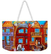 Montreal Memories Of Zaida And The Family Weekender Tote Bag