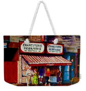 Montreal Paintings  Available For Fundraisers By Streetscene  Artist Carole Spandau  Weekender Tote Bag