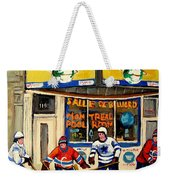 Montreal Poolroom Hockey Fans Weekender Tote Bag