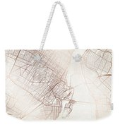 Montreal Street Map Colorful Copper Modern Minimalist Weekender Tote Bag