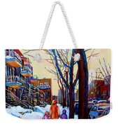Montreal Winter Weekender Tote Bag