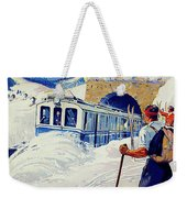 Montreux, Berner Oberland Railway, Switzerland, Winter, Ski, Sport Weekender Tote Bag