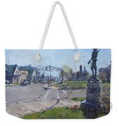 Monument At Pine Ave And Portage Rd Weekender Tote Bag