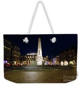 Monument On The Dam In Amsterdam Netherlands At Night Weekender Tote Bag