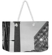 Monument To The Great Fire Of London Bw Weekender Tote Bag