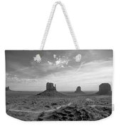 Monument Valley Monochrome Weekender Tote Bag