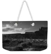 Monument Valley View - Black And White Weekender Tote Bag
