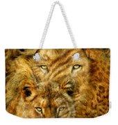 Moods Of Africa - Lions 2 Weekender Tote Bag