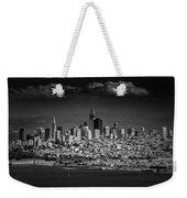 Moody Black And White Photo Of San Francisco California Weekender Tote Bag